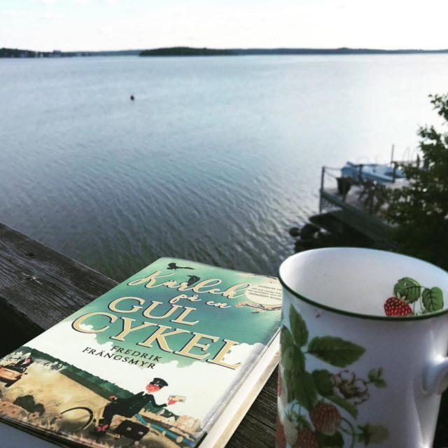 Morgondopp kaffe och bok Lyllos mig! fredrikfrangsmyr krlekpengulcykel lyxlagat