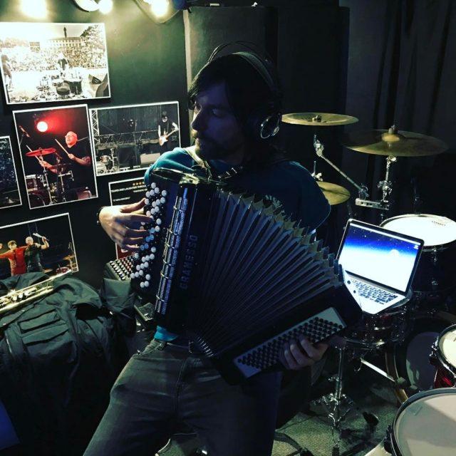 Then we do the accordion! eskobar recording accordion
