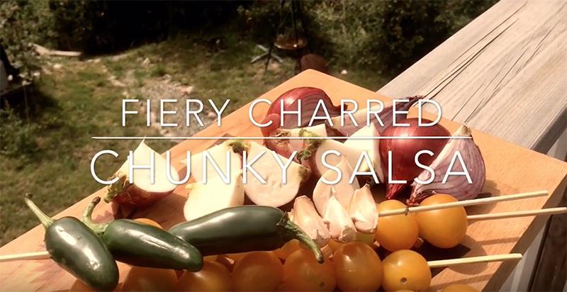 fiery, charred, chunky, salsa, grillad, bbq, weber, frederik zäll
